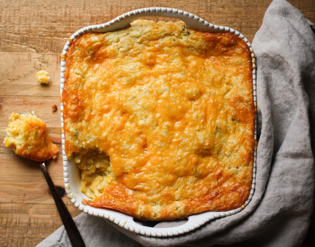 Cheesy Japapeño Corn Casserole