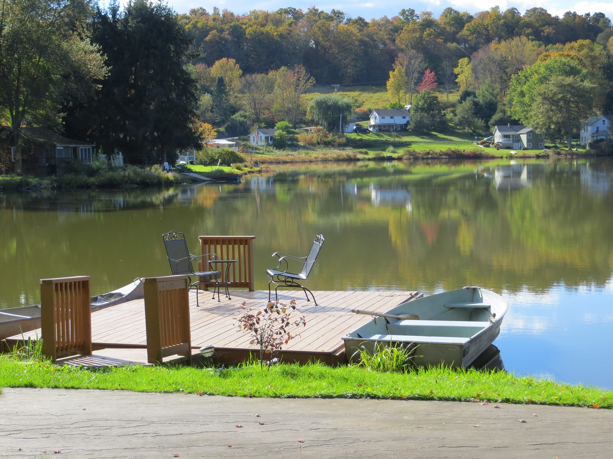 Dock on a lake in Susquehanna county.