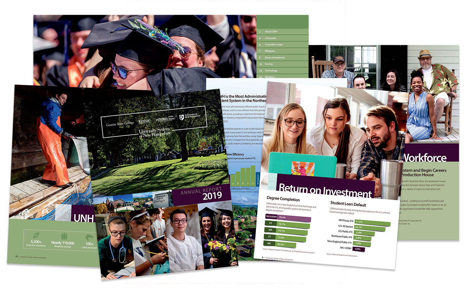 The University System of New Hampshire selects Grinley Creative to design annual report