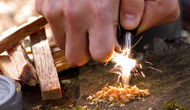 Starting a Fire Without Matches or Other Modern Methods