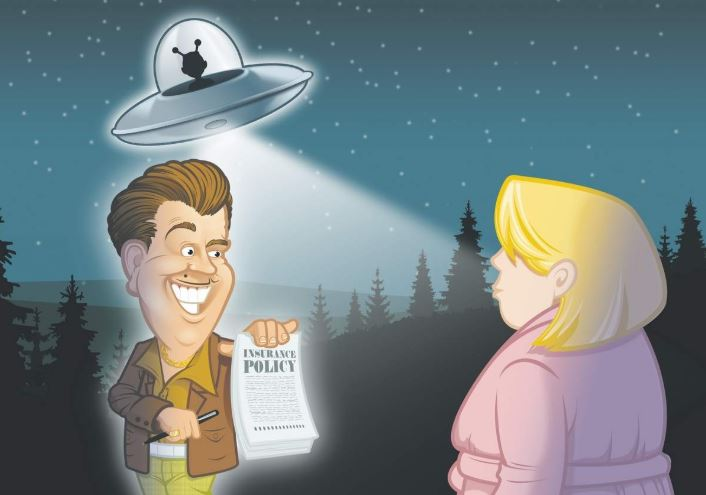 Thumbnail for the post titled: Are You Covered? How About Alien Abduction Insurance?