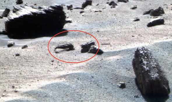 """Thumbnail for the post titled: Did NASA Direct Mars Rover to Purposely Destroy Mars """"Dinosaur Skull?"""""""