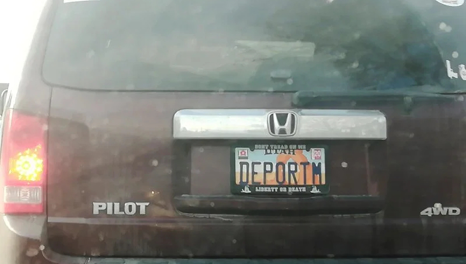 """Thumbnail for the post titled: """"DEPORTM,"""" License Plate Has Liberal Teacher Freaking-Out"""