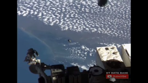 Thumbnail for the post titled: Has NASA Filmed a UFO Buzzing the International Space Station?