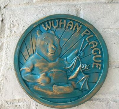 "WINNIE THE POOH EATS BAT SOUP IN ""WUHAN PLAGUE"" PLAQUES IN ATLANTA"