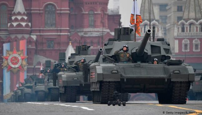 Russia holds massive show of military might in Moscow