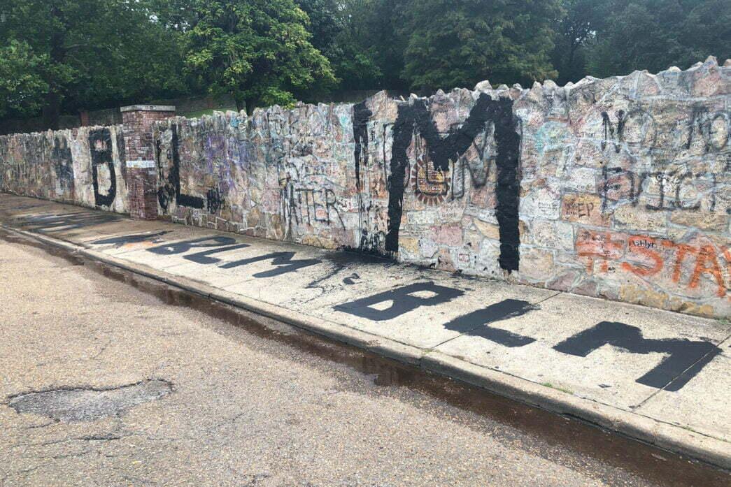 Thumbnail for the post titled: BLM Vandals Strike Elvis Presley's Graceland