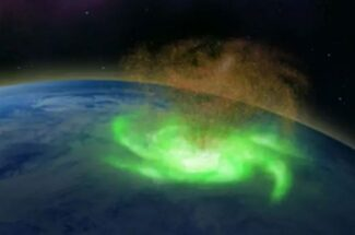Thumbnail for the post titled: Scientists Discover First 'Space Hurricane' Over North Pole