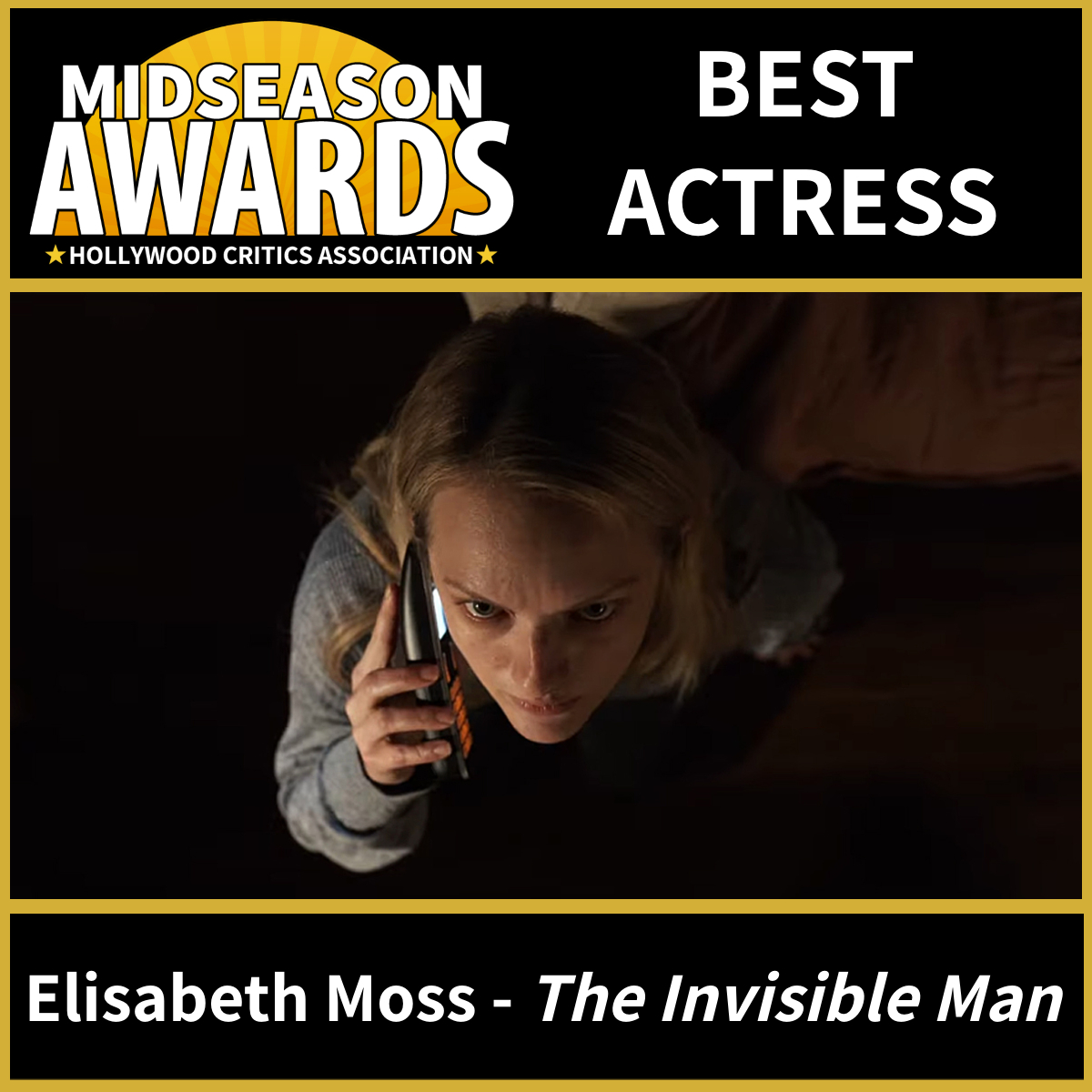 Elisabeth Moss - Best Actress - The Invisible Man