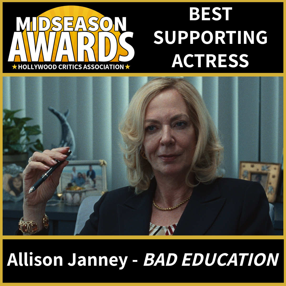 Allison Janney - Best Supporting Actress - Bad Education
