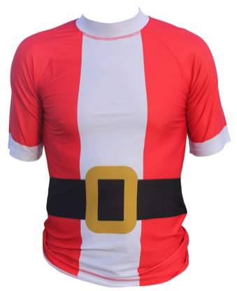 2019 Surfing Santa Rash Guard Shirt