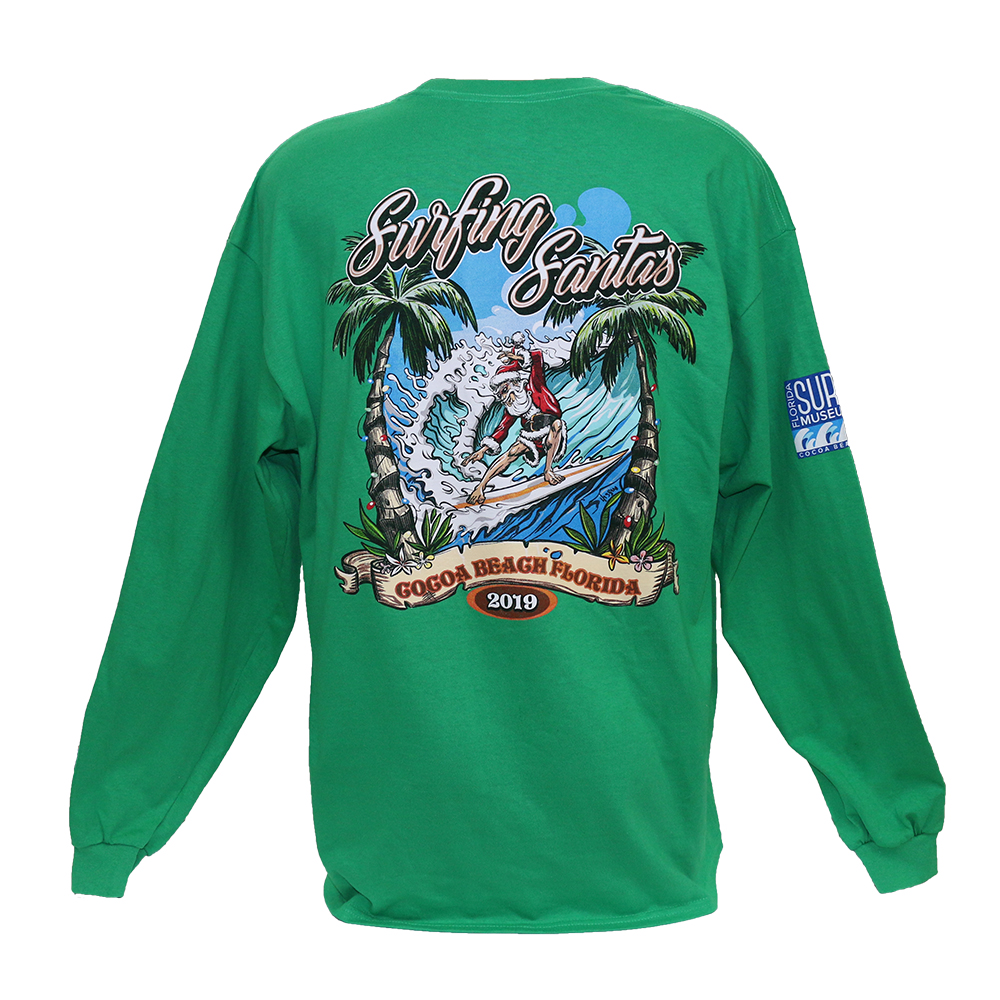 2019 Surfing Santas Long Sleve Shirt