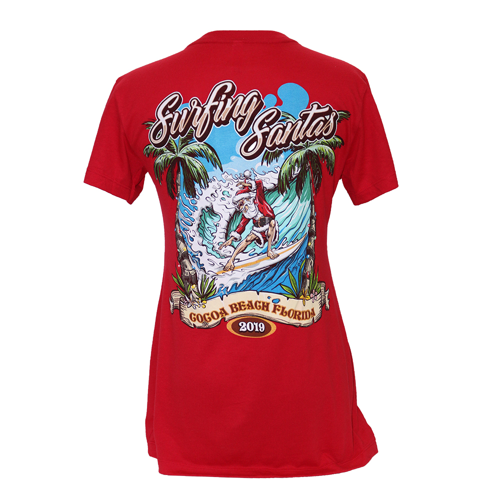 2019 Surfing Santas Women's Slim-Fit T-shirt