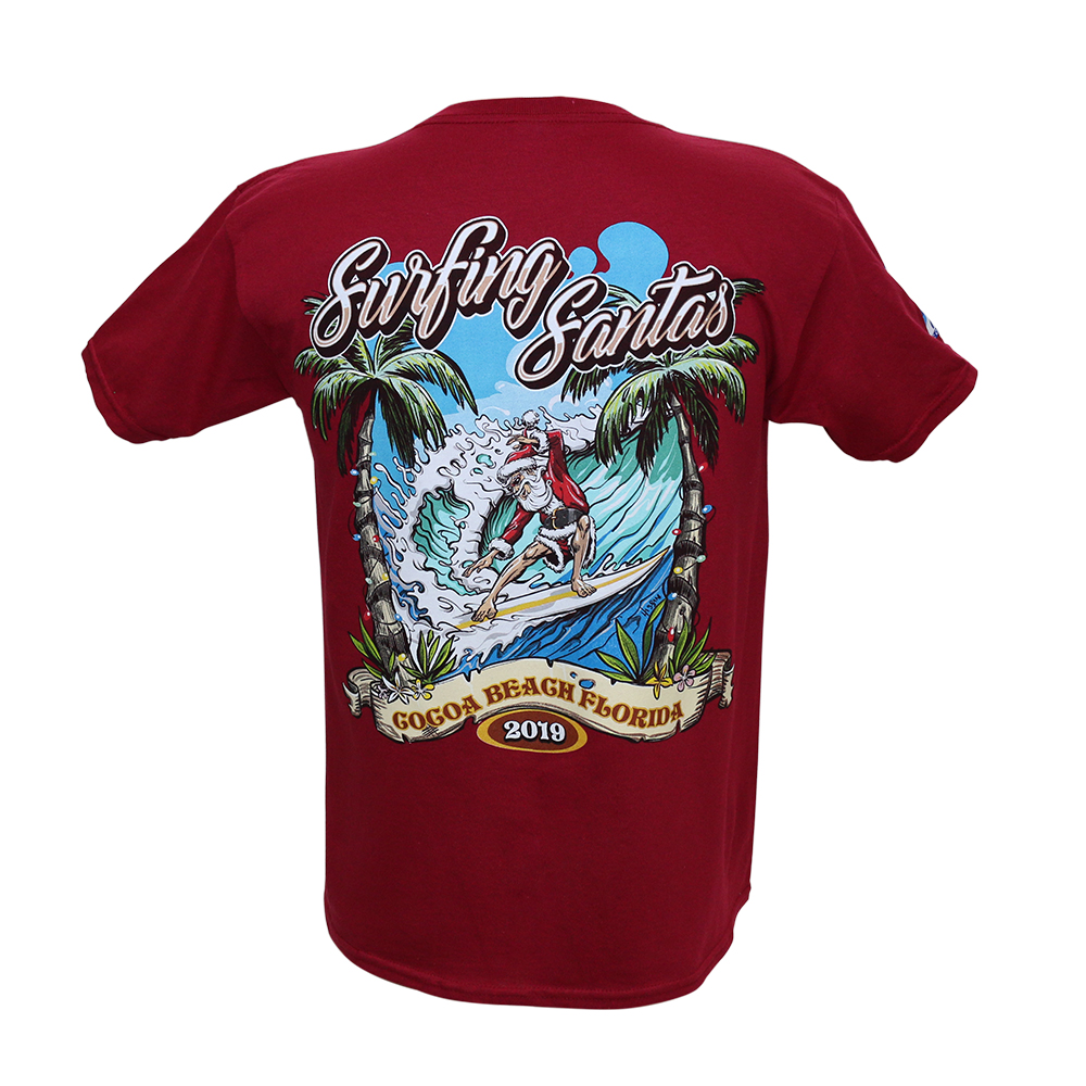 Surfing Santas 2019 Youth T-Shirt (back)