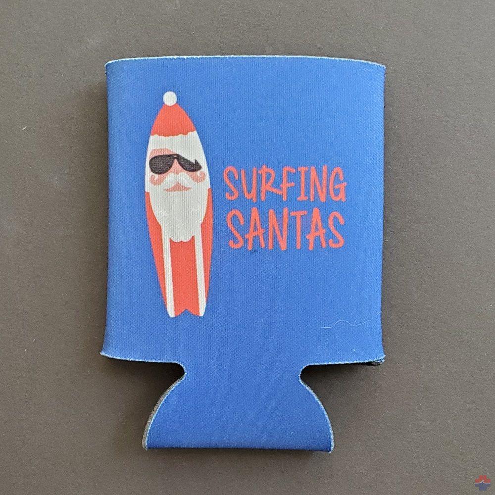 SURFING SANTAS KOOZIE