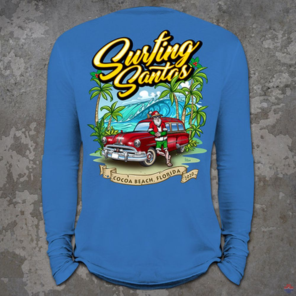 SURFING SANTAS 2020 LONG SLEEVE SHIRT