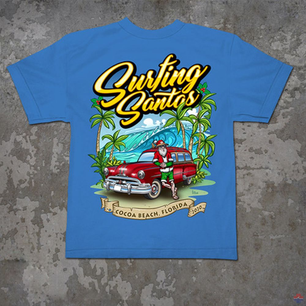 SURFING SANTAS 2020 YOUTH SHORT SLEEVE SHIRT