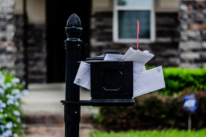Mailbox with overflowing mail to send out