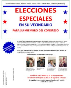 Cover page of the CD9 Voter Guide in spanish