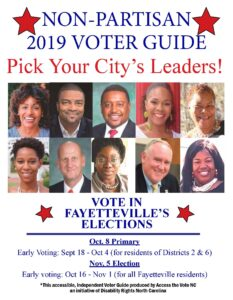 Fayetteville Voter guide Cover - English