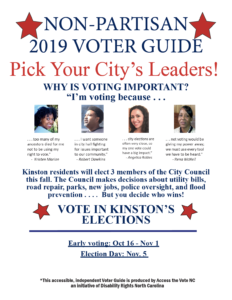 Kinston Voter Guide Cover - English