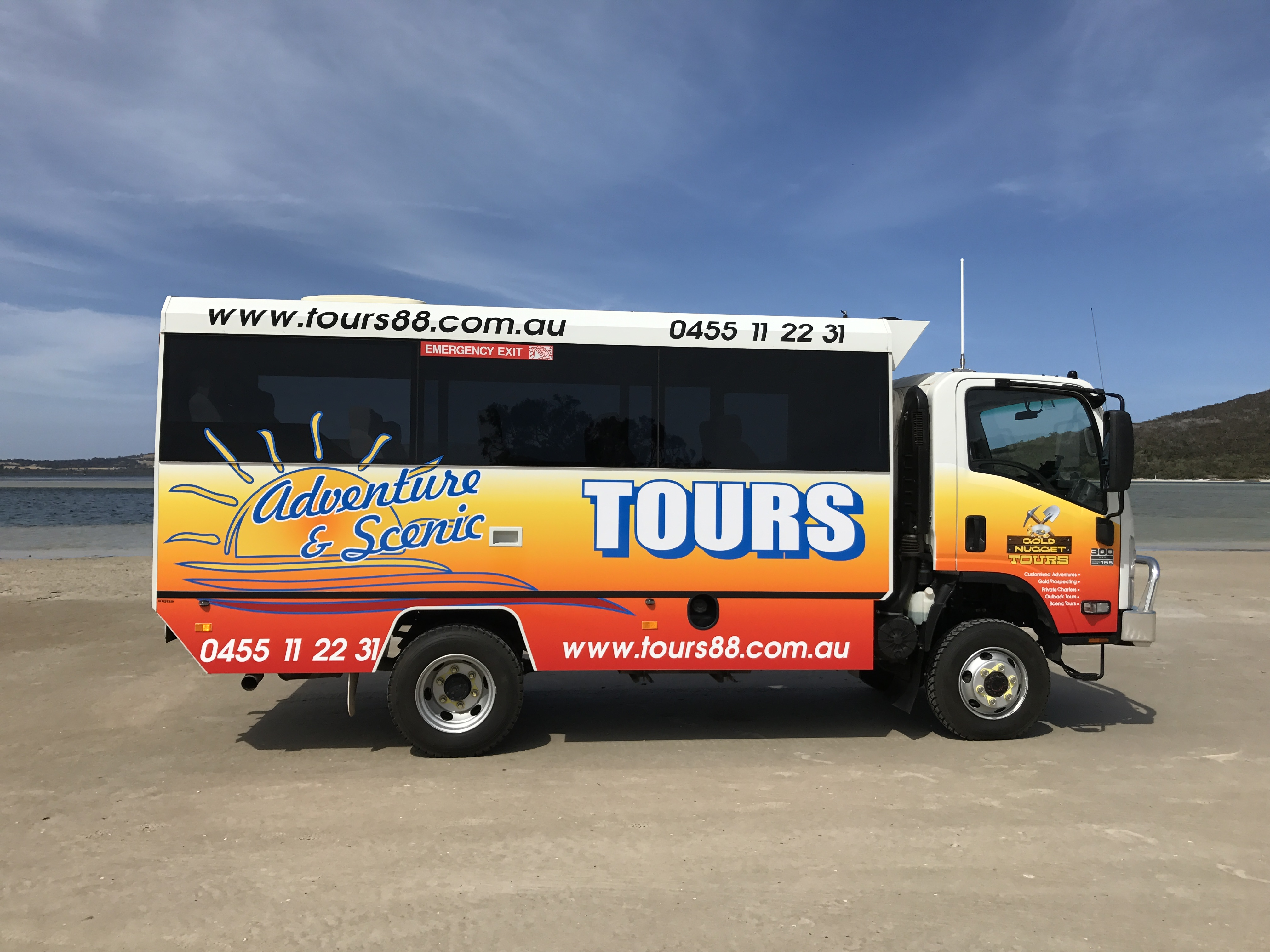 Adventure and scenic tours bus