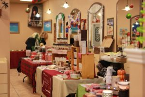 Local vendors booths.