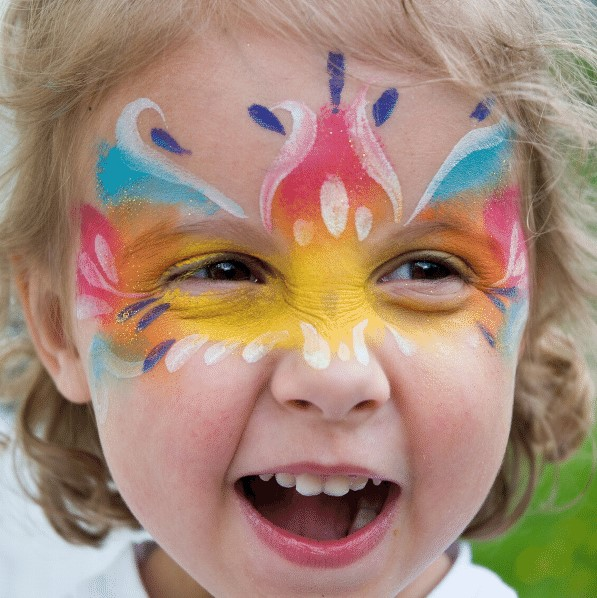 Some kids with a couple of cool face paint ideas.
