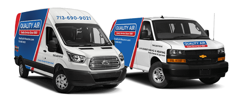 Quality Air Houston Service Trucks and Vans, Servicing Houston, Katy, and Surrounding Areas