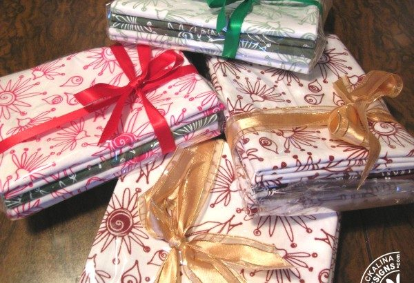 Fabric gift wrapped