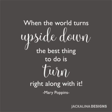 Quote 'When the world turns upside down'
