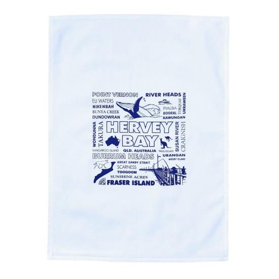 Hervey Bay Souvenir Tea Towel