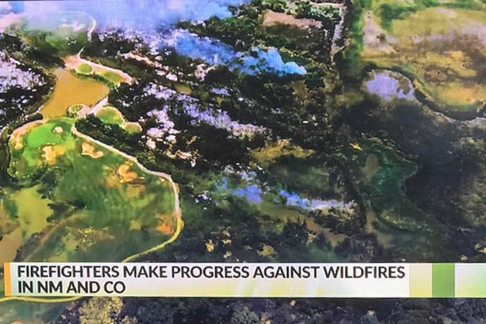 NM Golf Course Narrowly Escapes Brush Fire