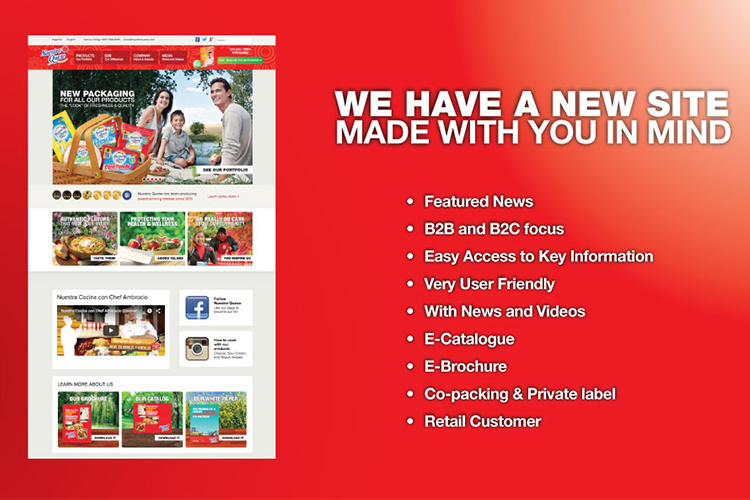 Nuestro Queso launches new website