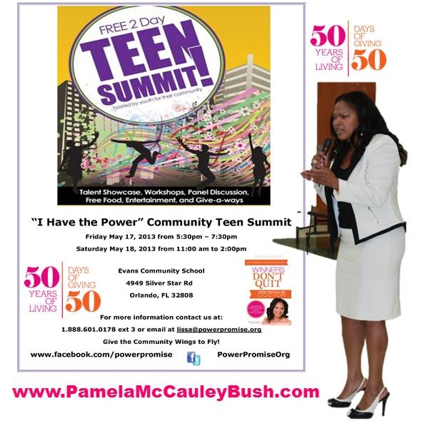 Power Promise Organization Teen Summit Fifty Days of Giving Day 2