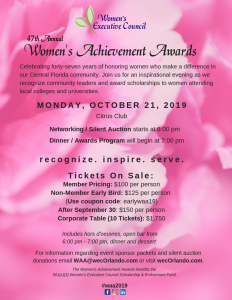 womens achievement stem award orlando october