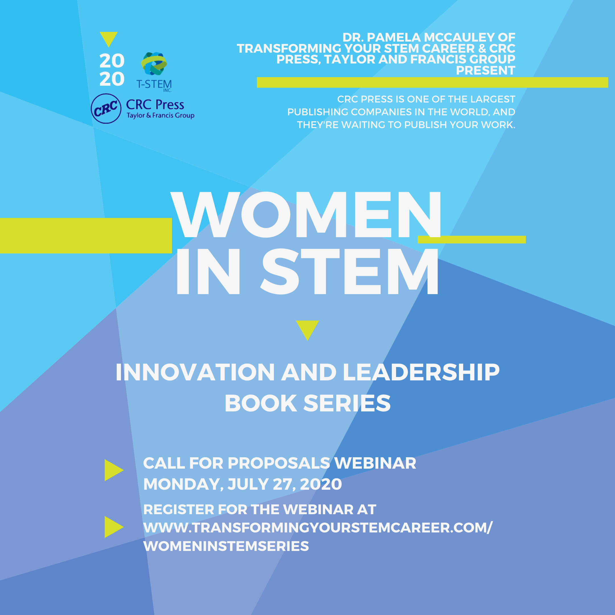 Flyer for Women in STEM Innovation and Leadership Book Series