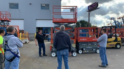 Scissor lift training at OHR Rents