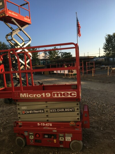 OHR Rents Mec scissor lifts