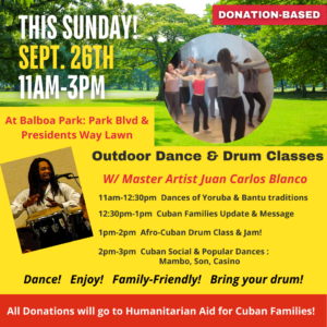 Sept. 26 - San Diego Support for Cuban Families @ Balboa Park