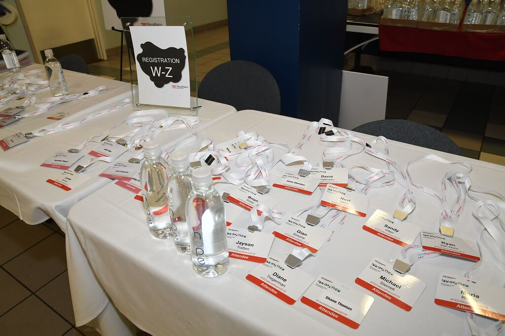 Table with name tags