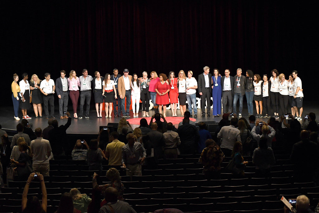 Tedx Boca Raton - All speakers on stage