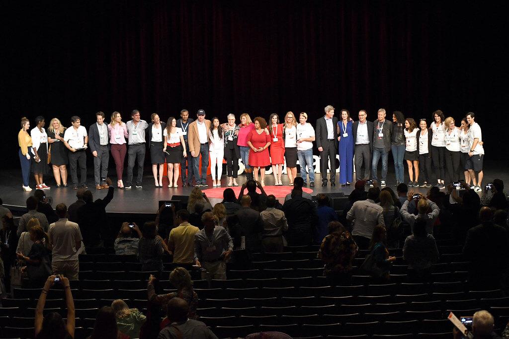 Tedx Boca Raton - All speakers on stage