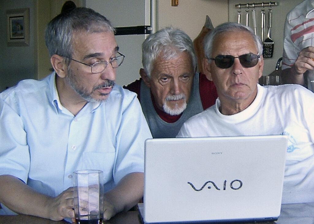 Cesar, Paulo Brito e Moacir Pereira