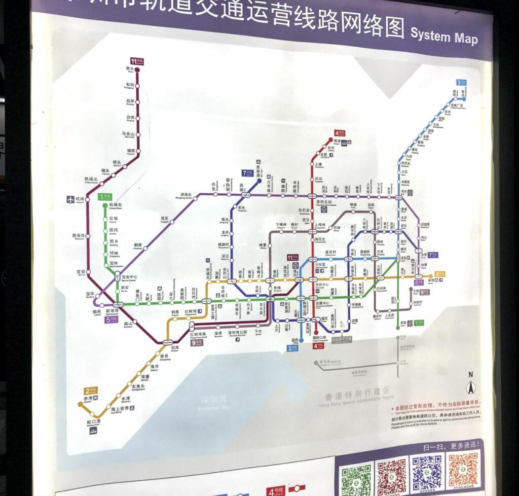 Mapa do metrô de Shenzhen