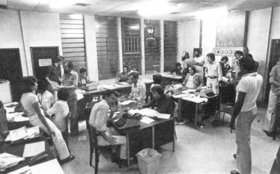 Redação de O Estado em 1976