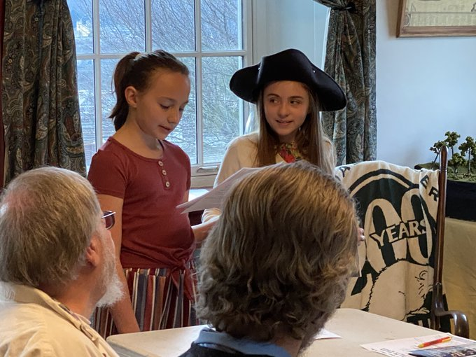 Students present at the Logstown Association Historical Society