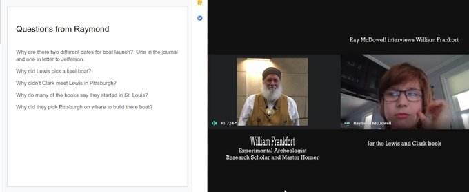 Online Interview with William Frankfort for upcoming Lewis and Clark book