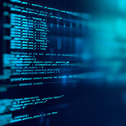 Programming code abstract technology background of software development