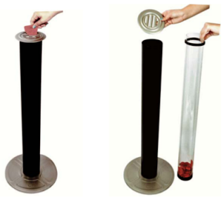 Ticket Tube Receptacle